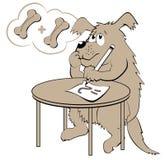Illustration de chien apprenant des nombres de compte Image libre de droits