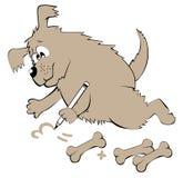 Illustration de chien apprenant des nombres de compte Images libres de droits