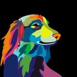 Illustration de chien coloré Photographie stock libre de droits