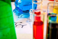 Illustration de chimie organique illustration stock