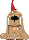 Illustration de Christmass - chien Images stock