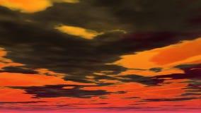 Illustration de ciel nuageux Photo libre de droits