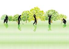 Joueurs de golf Photos libres de droits