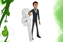 illustration de clé de l'homme 3d Image stock