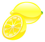 Illustration de clipart d'icône de fruit de citron Photo libre de droits