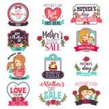 Illustration de Clipart de signe de vente de fête des mères Photographie stock
