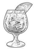 Illustration de cocktail, dessin, gravure, encre, schéma, illustration de vectorCocktail, dessin, gravure, encre, schéma, vecteur illustration de vecteur