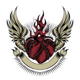 Illustration de coeur avec des ailes Photographie stock libre de droits
