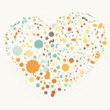 Illustration de coeur d'éclaboussure Photos stock