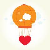 Illustration de coeur de ballon Photographie stock libre de droits