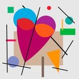 Illustration de coeur, valentine Illustration géométrique du coeur du cubisme Supermatism illustration libre de droits