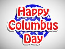 Illustration de Columbus Day Background Image stock