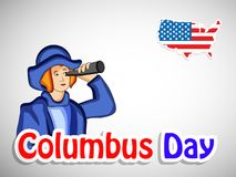 Illustration de Columbus Day Background Photos stock