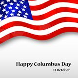 Illustration de Columbus Day Background Image libre de droits