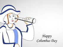 Illustration de Columbus Day Background Photo stock
