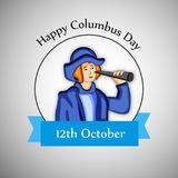 Illustration de Columbus Day Background Photos libres de droits