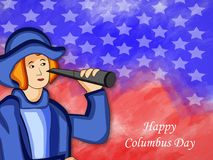 Illustration de Columbus Day Background Images stock