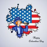 Illustration de Columbus Day Background Photographie stock libre de droits