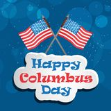 Illustration de Columbus Day Background Images libres de droits