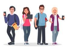 Illustration de concept d'étudiants universitaires Photographie stock