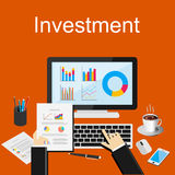 Illustration de concept d'investissement productif Accroissement d'affaires Image libre de droits