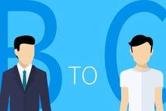 Illustration de concept de B2C Image stock