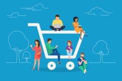Illustration de concept de commerce électronique illustration libre de droits