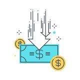 Illustration de concept de compressions budgétaires Image stock