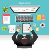 Illustration de concept de comptabilité d'entreprise Photo stock