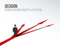 Illustration de concept de décision Photographie stock