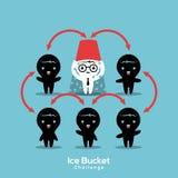 Illustration de concept de défi de seau à glace de SAL Photos libres de droits