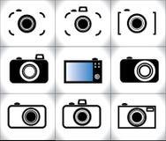 Illustration de concept de différentes icônes à la mode d'appareil-photo Image libre de droits