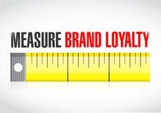Illustration de concept de fidélité à la marque de mesure illustration stock