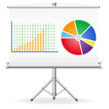 Illustration de concept de graphiques de gestion Photo stock