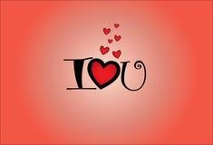Illustration de concept de l'amour U (vous) d'I Photos libres de droits