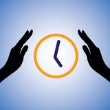Illustration de concept de l'économie/du temps de économie Photographie stock libre de droits
