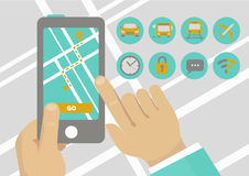 Illustration de concept de la navigation APP illustration libre de droits