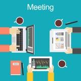 Illustration de concept de réunion Illustration de concept de discussion Concept de séance de réflexion Définissez la conclusion Photographie stock