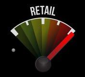 illustration de concept de signe de mètre de ventes au détail illustration stock