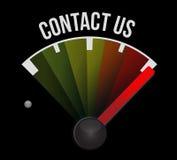 illustration de concept de signe de tachymètre de contactez-nous illustration stock