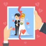 Illustration de concept de divorce illustration libre de droits