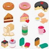 Illustration de concept graphique de dessert d'infos Image stock