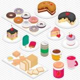 Illustration de concept graphique de dessert d'infos Photographie stock