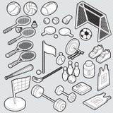 Illustration de concept graphique de sport d'infos Photo libre de droits