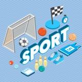 Illustration de concept graphique de sport d'infos Photographie stock