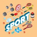 Illustration de concept graphique de sport d'infos Images libres de droits
