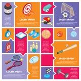 Illustration de concept graphique de sport d'infos Photographie stock libre de droits