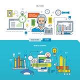 Illustration de concept - le service SVP, étude mobile illustration stock