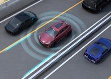 Illustration de concept pour la voiture autonome Photographie stock libre de droits