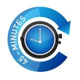 illustration de concept de temps de montre d'alarme de 45 minutes illustration de vecteur